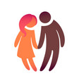 a couple in love look at each other bride and vector image vector image