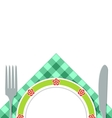 A plate of napkins vector image vector image