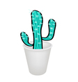 A Succulent Plant in A Flower Pot vector image vector image