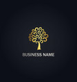 abstract tree curl gold logo vector image
