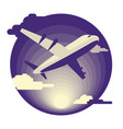 airplane in flat design vector image vector image