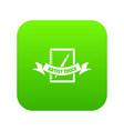 artwork icon green vector image vector image