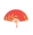 asian fan red hand traditional fan isolated on vector image vector image