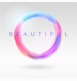 beautiful abstract banner with a round colorful vector image