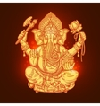 Beautiful card with God Ganesha vector image