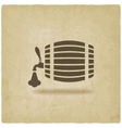beer barrel old background vector image vector image