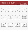 camera viewfinders set vector image