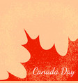 canada day beige background part of the maple vector image vector image
