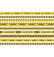 caution tape set yellow warning strips danger vector image vector image