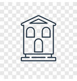 chalet concept linear icon isolated on vector image