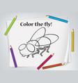 children fly coloring worksheet vector image