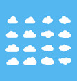 clouds silhouettes set of clouds shapes vector image vector image