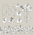 collection of lily flowers elements awesome set vector image vector image
