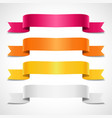 colored decorative arrow ribbons banners vector image vector image