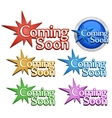 coming soon signs vector image vector image