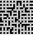 crossword puzzle vector image