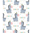 cute smile dino seamless pattern vector image vector image