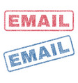 email textile stamps vector image vector image