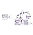 estate planning concept template web banner vector image