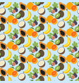 exotic fruit pattern vector image vector image