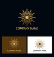gold star shine abstract logo vector image