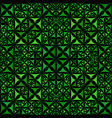 green abstract repeating curved triangle vector image vector image