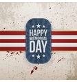 Happy Memorial Day greeting Badge and Ribbon vector image