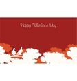 Happy Valentine Day card landscape vector image vector image