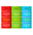 infographics - three color vertical panels vector image vector image