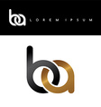 initial letter linked circle lowercase logo gold vector image