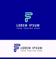 letter f icon and logo template new design vector image vector image