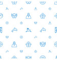 life icons pattern seamless white background vector image vector image