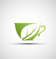 logo cup tea vector image
