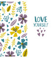 love yourself banner or card template vector image vector image