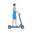 man riding an electric scooter vector image vector image