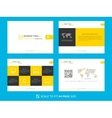 Marketing kit presentation template vector image