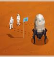 mars exploration design concept vector image vector image