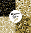 merry christmas pattern set gold retro 80s holiday vector image vector image