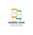mobile chat symbol vector image vector image