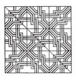 modern square panel is a repeating patterns vector image vector image