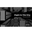 night in city vector image vector image