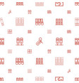order icons pattern seamless white background vector image vector image
