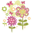Pretty Flowers vector image
