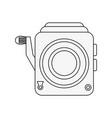 retro camcorder symbol vector image vector image