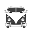 Retro Travel bus Front view vector image