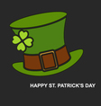 Saint Patricks Day background for greeting card vector image