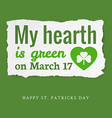 Saint Patricks day tag vector image vector image