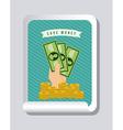 save money design vector image vector image