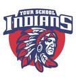 School mascot indian chief head