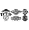 set of vintage tattoo emblems version for white vector image vector image